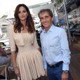 Tasha de Vasconcelos et Alain Prost lors du Grand Prix de Monaco le 25 mai 2014