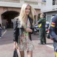 La compagne de Jean-Eric Vergne lors du Grand Prix de Monaco le 25 mai 2014