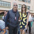 Flavio Briatore, Elisabetta Gregoraci lors du Grand Prix de Monaco le 25 mai 2014