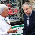 Bernie Ecclestone et Jean Todt lors du Grand Prix de Monaco le 25 mai 2014