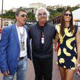 Antonio Banderas, Flavio Briatore et Elisabetta Gregoraci lors du Grand Prix de Monaco le 25 mai 2014
