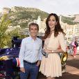 Alain Prost et Tasha de Vasconcelos lors du Grand Prix de Monaco le 25 mai 2014