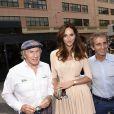 Jackie Stewart, Tasha de Vasconcelos, Alain Prost lors du Grand Prix de Monaco le 25 mai 2014