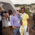 George Lucas et sa femme Mellody Hobson lors du Grand Prix de Monaco le 25 mai 2014