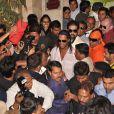Ronaldinho lors de la présentation du long métrage R-10 à l'hôtel Meridien de Pune en Inde, le 28 décembre 2012