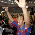 Ronaldinho après la victoire en Ligue des champions avec Barcelone, le 17 mai 2006 à Saint-Denis au Stade de France