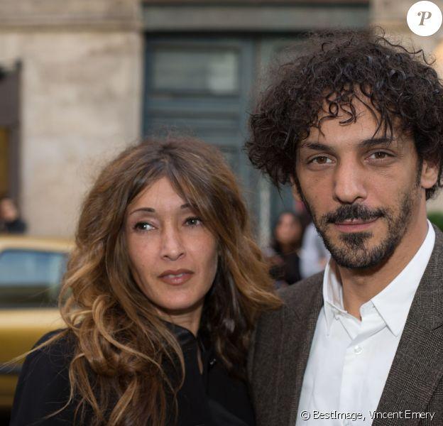 """Exclusif - Tomer Sisley et sa compagne Karine Machado - Vernissage de l'exposition """"G I R L"""" pensée par Pharrell Williams à la Galerie Perrotin. Paris, le 26 mai 2014."""