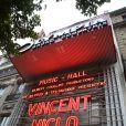 Vincent Niclo en concert sur la scène de l'Olympia à Paris le 28 mai 2014.