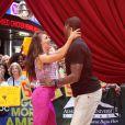 Jacoby Jones des Baltimore Ravens et sa partenaire de Dancing with the Stars Karina Smirnoff le 22 mai 2013