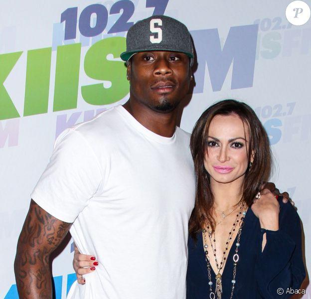 Jacoby Jones et Karina Smirnoff, sa partenaire de Dancing with the Stars, à l'événement 102.7 KIIS FM's Wango Tango 2013 à Carson City le 11 mai 2013