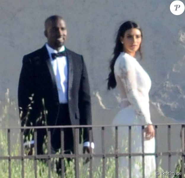 Exclusif - Kim Kardashian et Kanye West au Fort Belvedere à Florence en Italie le 24 mai 2014.