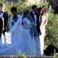 Exclusif - Kris Jenner et North (fille de Kim Kardahian et de Kanye West), Kim Kardashian et Bruce Jenner au Fort Belvedere à Florence en Italie le 24 mai 2014.