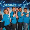 """Christine Lemler, Franck Le Hen, Édouard Collin, Rodolphe Sand, David Tournay - Première du spectacle """"Revenir un Jour"""" au Palais des Glaces à Paris, le 13 mai 2014."""