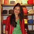 """Yelena Noah (fille de Yannick Noah) lors de la présentation de la nouvelle collection hommage à l'Afrique """"The promise collection by Tommy Hilfiger"""" à Paris, le 26 avril 2012."""