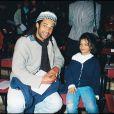Yelena Noah et son père Yannick Noah en 1995