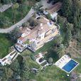 Vue aérienne de la maison de Steven Spielberg à Pacific Palisades, le 8 février 2014.
