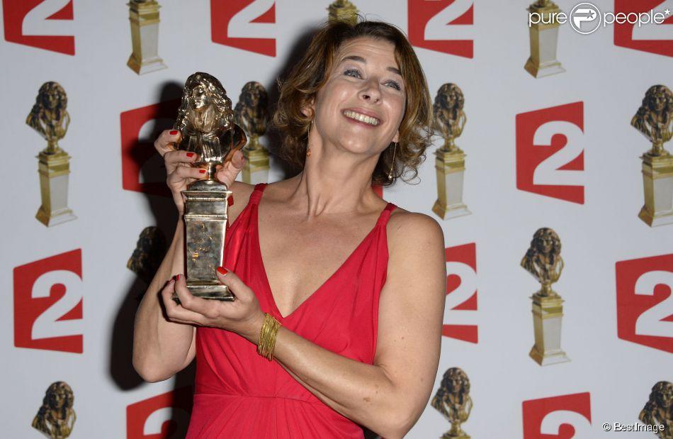Isabelle Gélinas à la 26e nuit des Molières aux Folies Bergères à Paris, le 2 juin 2014.
