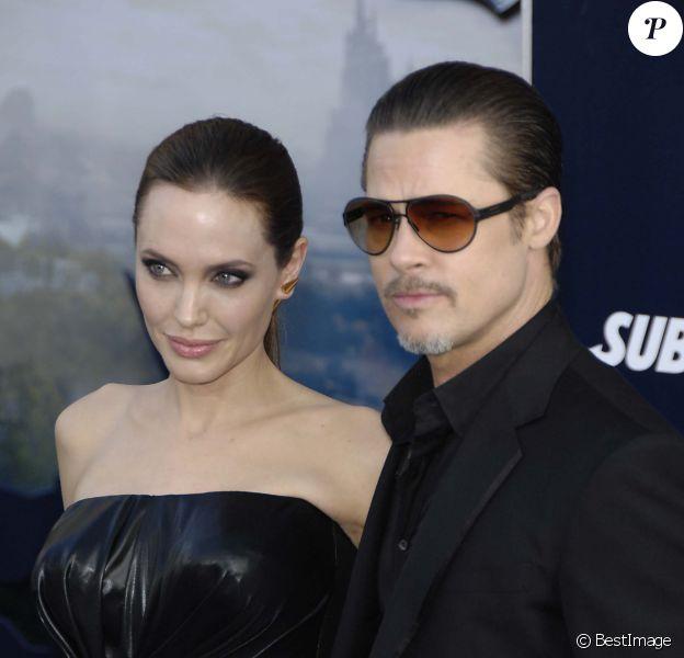 Angelina Jolie et Brad Pitt - Première du film Maleficient à Los Angeles, le 28 mai 2014