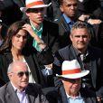 Laurie Cholewa et Richard Virenque à Roland-Garros à Paris, le 4 juin 2014.