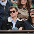 Jean-Baptiste Maunier et Reem Kherici à Roland-Garros à Paris, le 4 juin 2014.