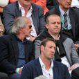 Jacques Laffite et Olivier Panis à Roland-Garros à Paris, le 4 juin 2014.