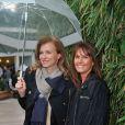 Valérie Trierweiler et Isabelle Chalençon à Roland-Garros à Paris, le 4 juin 2014.