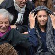 Jean Rochefort et sa fille Clémence à Roland-Garros à Paris, le 4 juin 2014.