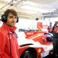 Le pilote Nicolas Prost lors des essais pour les 24 heures du Mans. Le Mans, le 1er juin 2014.