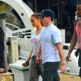 Jennifer Lopez avec Casper Smart lors d'un photoshoot sur un yacht à Miami, le 12 février 2014.