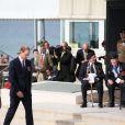 """Le prince William lors de la cérémonie sur la plage """"Gold Beach"""" à Arromanches pour les commémorations du 70e anniversaire du débarquement sur les plages de Normandie lors de la Seconde Guerre Mondiale, le 6 juin 2014."""