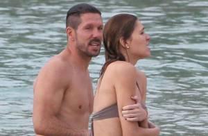 Diego Simeone (Atlético de Madrid) : Câlins en mer avec Carla après ses exploits