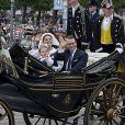 La princesse Victoria, le prince Daniel et leur fille la princesse Estelle de Suède - La famille royale de Suède célèbre la fête nationale à Stockhom en Suède le 6 juin 2014.  Stockholm, 06-06-2014 Members of the Swedish Royal Family on the National Day of Sweden on june 6, 201406/06/2014 - Stockholm