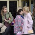 Exclusif - Eva O'Neill et Natascha Abensperg und Traun - Préparatifs du baptême de la princesse Leonore au Grand Hôtel de Stockholm en Suède le 7 juin 2014.  Exclusive - For Germany call for price - Atmosphere outside the Grand Hotel in Stockholm, Sweden, the day before the christening of his daughter Princess Leonore on june 7, 2014.07/06/2014 - Stockholm