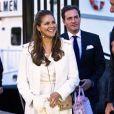 Exclusif - La princesse Madeleine de Suède et son mari Chris O'Neill arrivent le 7 juin 2014 pour une soirée à bord du M/S Victorina III à la veille du baptême de la princesse Leonore à Stockholm en Suède le 7 juin 2014.