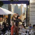 Exclusif - Chris O'Neill fait la fête avec des membres de sa famille et des amis à l'occasion du baptême de sa fille la princesse Leonore à Stockholm en Suède au soir du 8 juin 2014.
