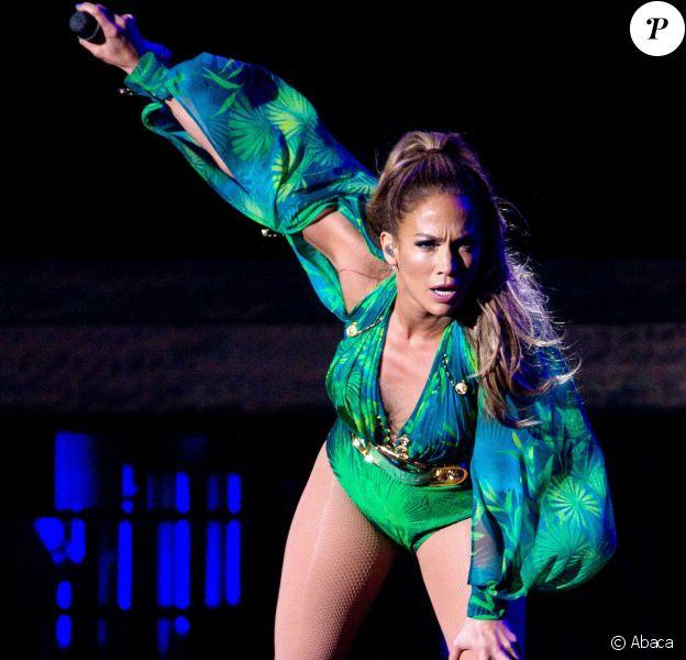 Jennifer Lopez en concert à New York, le 4 juin 2014.