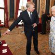 Le prince William, le prince Andrew et le duc d'Edimbourg prenaient part avec la reine Elizabeth II, le 9 juin 2014 à Buckingham, à une réception mettant à l'honneur la technologie britannique.