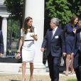Kate Middleton, duchesse de Cambridge, visite le musée national de la Marine le 10 juin 2014 en soutien de Ben Ainslie pour la Coupe de l'America 2017