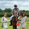 Jude Cissé, ex de Djibril, lors d'un match de polo avec ses amies Claire Henry, Charlotte Dawson et Claire Ridley à Cheshire, le 11 juin 2014.