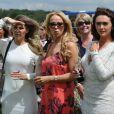 Jude Cissé lors d'un match de polo avec ses amies Liz Mcclarnon et Charlotte Dawson à Cheshire, le 11 juin 2014.
