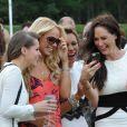 Jude Cissé lors d'un match de polo avec ses amies Liz Mcclarnon, Claire Henry et Charlotte Dawson à Cheshire, le 11 juin 2014.