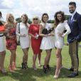 Jude Cissé lors d'un match de polo avec Claire Henry, Liz Mcclarnon, Christine Littler, Claire Ridley, Charlotte Dawson et Armand Beasley à Cheshire, le 11 juin 2014.