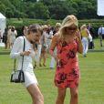 Jude Cissé lors d'un match de polo avec son amie Liz Mcclarnon à Cheshire, le 11 juin 2014.