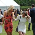 Jude Cissé, ex de Djibril, lors d'un match de polo avec ses amies Liz Mcclarnon, Claire Henry et Charlotte Dawson à Cheshire, le 11 juin 2014.