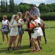 Jude Cissé, ex de Djibril, lors d'un match de polo avec ses amies Liz Mcclarnon, Claire Henry, et Charlotte Dawson à Cheshire, le 11 juin 2014.