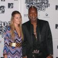 Djibril Cisse et sa femme Jude lors des MTV Europe Awards au Bella Center de Copenhague le 2 novembre 2006