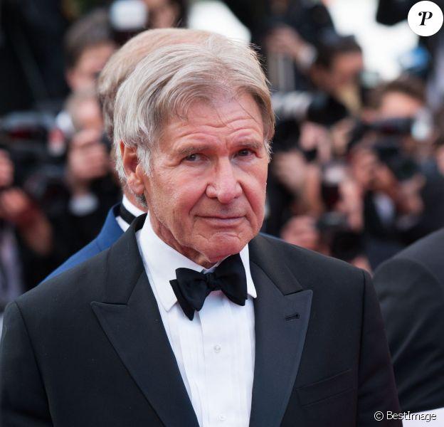 """Harrison Ford - Montée des marches du film """"The Homesman"""" lors du 67e Festival du film de Cannes, le 18 mai 2014."""