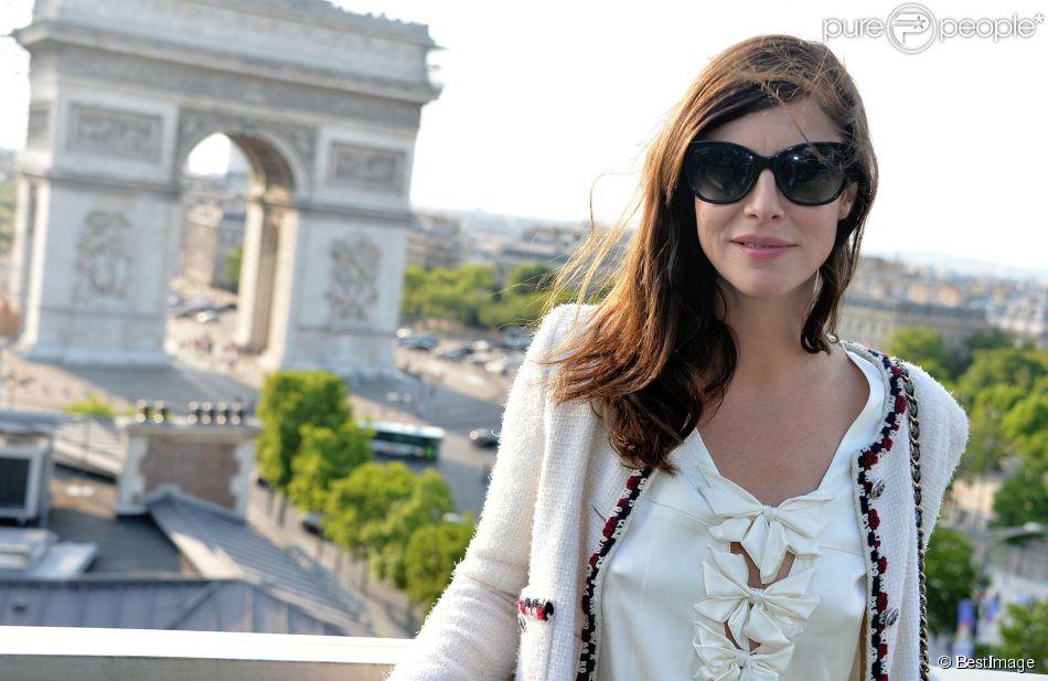 """Exclusif - Anna Mouglalis - Avant-première du film """"Kiss of the Damned"""" et cocktail dînatoire sur la terrasse du Publicis dans le cadre du 3e Champs-Elysées Film Festival à Paris, le 13 juin 2014."""