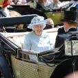 La reine Elizabeth II et le duc d'Edimbourg au premier jour du Royal Ascot, le 17 juin 2014