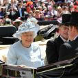 La reine Elizabeth II et le prince Philip, duc d'Edimbourg dans les loges au premier jour du Royal Ascot, le 17 juin 2014